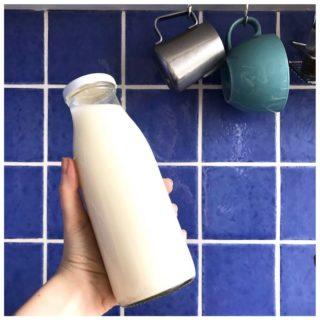 [Lait d'avoine maison] ⠀ 3 minutes chrono ⏱, 30 centimes le litre 💰, le tout sans emballage ✌️ ⠀ Il nous faut : ⠀ • 100 grammes de flocons d'avoine (achetés en vrac hein 🤗) • 1L d'eau • Un blender, même peu puissant • Un tissu fin ou un chinois pour le filtrage ⠀ • En option : un trait de sirop de cannelle, une goutte d'extrait de vanille ou ce qui vous fait plaisir 😋 ⠀ On passe le mélange flocons + eau au blender pendant une bonne minute, on filtre bien et.. c'est terminé 👍 ⠀ La partie solide s'appelle l'okara et peut être utilisée en pâtisserie, dans un porridge.. Nous, on l'ajoute à nos pesto maison pour leur donner une belle texture 🙂 ⠀ Et vous, vous avez déjà tenté le lait végétal maison ? ⠀ . ⠀ #zerodechet #zerodechets #objectifzerodechet #cuisinezerodechet #zerodechetparis #laitvegetal #laitvegetalmaison #laitdavoine #laitdavoinemaison #faitmaison #vegan #vegetalien #veganfaitmaison #recettevegan #vegantips #sanslaitdevache #mangermieux
